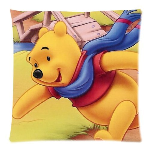 Butuku Pooh Bear Zippered Throw Pillow Cases Cover Cushion Case 18X18 (Two Sides) front-396456
