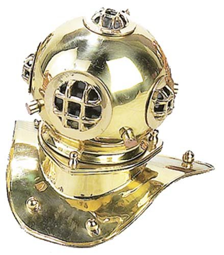 "Replica Desktop 8"" U.S. Navy Mark-V Brass Diving Helmet"