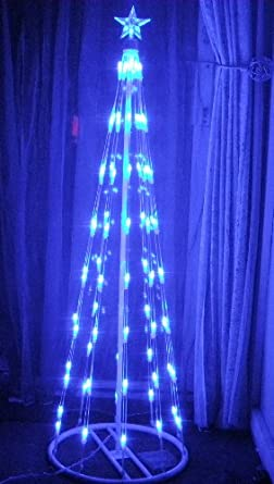 stunning modern blue led christmas tree lighting