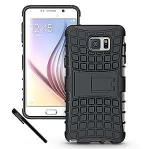 Galaxy Note 5 Case Cover Accessories, OEAGO Samsung Galaxy Note 5 Case - Tough Rugged Dual Layer Protective Case with Kickstand for Samsung Galaxy Note 5 - Black