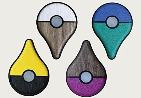 ポケモン GO PLUS 用 スキンシール カバー シール ケース 高級素材 側面対応 丈夫で長持ち 保護 木目調 チャコールウッド 高級感のある手触り 切れ込みがなく 簡単に貼り付け可能