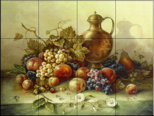 Kitchen Backsplash Tile Mural - Fruit Bouquet I