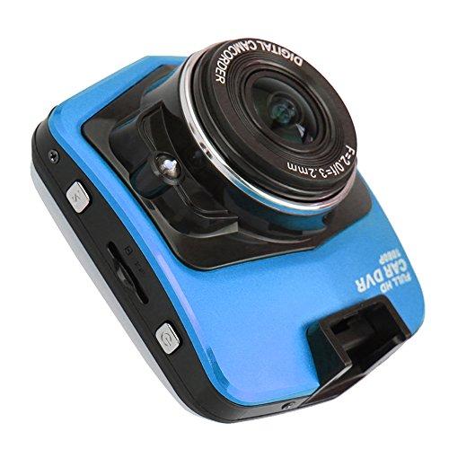 """Molie 2.0"""" TFT LCD Car Cam Full HD Auto Kamera 1080P DVR Recorder USB2.0 120° Sichtweite Schwarz Blau (Blau)"""