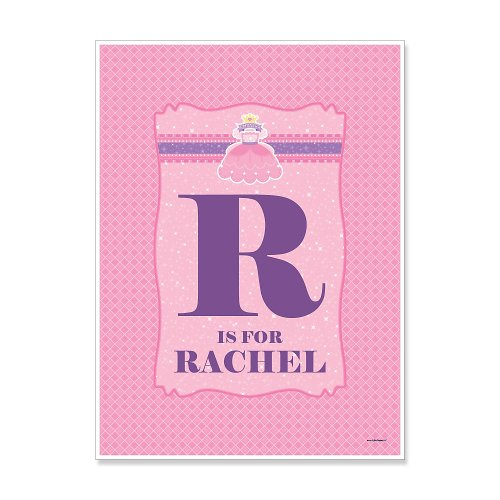 Pretty Princess - Personalized Baby Shower Poster Gift front-28085