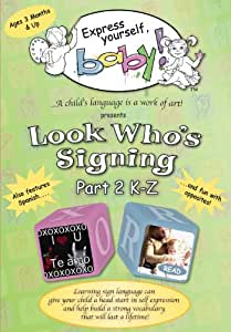 Look Who's Signing (Part 2 K-Z) DVD teaching children American Sign Language