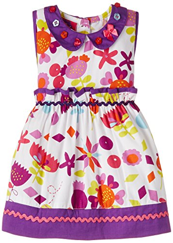 Cupcake Baby Girls' Dress (M9-9-2465_Multi-Colour_12 months)