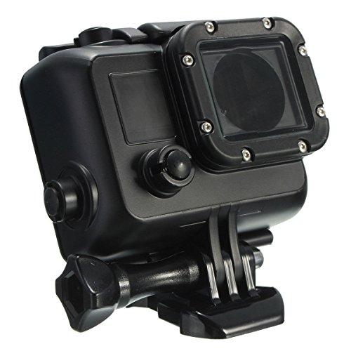 Shoot-Unterwasser-Gehuse-Tauchgehuse-Schutzgehuse-Case-Etui-Schwarz-Actionkamera-HD-Kamera-Videokamera-fr-GoPro-3-4-Kamera-SCHWARZ-BLACK