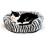 K&H Manufacturing Self-Warming Nuzzle Nest Black Zebra 19-Inch