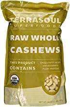 Terrasoul Superfoods Raw Organic Cashews Whole 2-pounds
