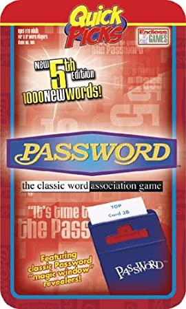 Password 5th Ed (Quick Picks Travel Edition)
