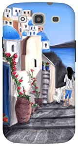The Racoon Grip Santorini,Greece hard plastic printed back case / cover for Samsung Galaxy S3 Neo
