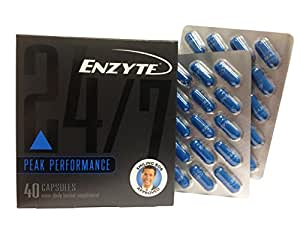 Enzyte Male Enhancement Supplement Pills | Doctor-Formulated with Korean Red Ginseng, Horny Goat Weed, Ginkgo Biloba - Erection Quality, Stamina, Arousal, & Response - 1 Month Supply (40 Capsules)