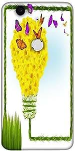 Snoogg Floral Background Designer Protective Back Case Cover For Lg Google Ne...