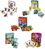 Gamewright Card Games Bundle: Gubs, Loot, Rat-a-Tat Cat, Sleeping Queens, Zeus on the Loose - (Set of 5)