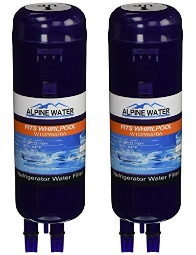 Alpine Water Water Filter, Compatible with W10295370, W10295370a, Filter 1 and Kenmore 46 9930 models, 2 pack (P4rfwb Water Filter compare prices)