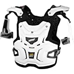 Leatt Adventure Pro Adult Chest Protector Off-Road/Dirt Bike Motorcycle Body Armor - White / One Size