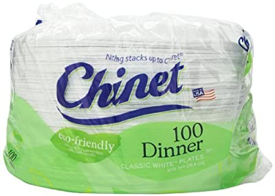 Chinet 10-3/8 Eco-friendly Dinner Plates, 300-count