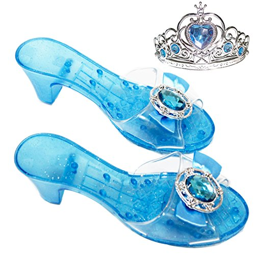Girls-Costume-Glass-Slippers-for-Frozen-Snow-Queen-Princess-ShoesFree-Princess-Crown