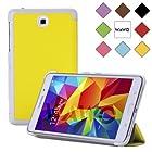 WAWO Creative Tri-fold Cover Case for Samsung Galaxy Tab 4 7.0 Inch Tablet - Yellow