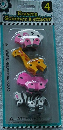 Character Erasers - 4 Pack - Different Styles Available