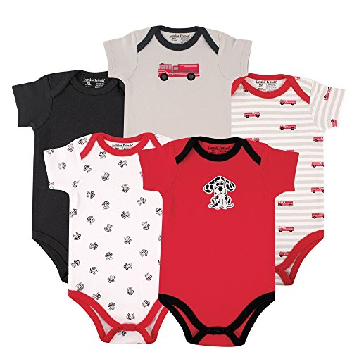 Luvable Friends Boy's 5 Pack Bodysuits