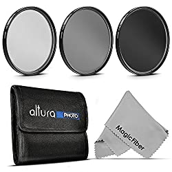 58MM Professional Photography Filter Kit (UV, Polarizer, Neutral Density ND4) for Camera Lens with 58MM Filter Thread + Filter Pouch + Premium MagicFiber Microfiber Cleaning Cloth