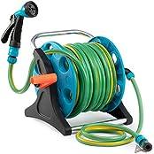 Garden Hose Reel Cart, 70 Feet Green&blue Hose Reel Cart 1 Set For Home Garden Car Watering