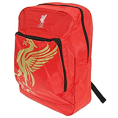 Liverpool FC Official Foil Print Football Crest Backpack by Soccer