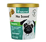 NaturVet NO SCOOT Plus Pumkin Soft Chew Dogs Healthy Glands (CUP) - 60 ct