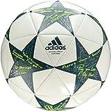 adidas Performance Champion's League Finale Capitano Soccer Ball, 2016 White/Vapor Steel Grey/Tech Green, Size 5