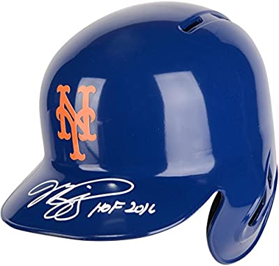 Mike Piazza New York Mets Autographed Replica Batting Helmet with HOF 2016 Inscription - Fanatics Authentic Certified