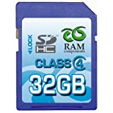 "RAM Components 32GB SDHC Class 4 High Speed Speicherkarte - Secure Digital High Capacity (SD HC Card) - inkl. Casevon ""RAM Components"""