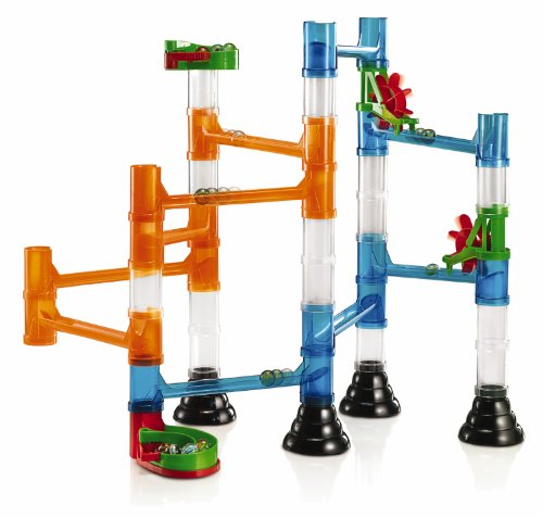Quercetti-Transparent-Marble-Run-45-Piece-Basic-Building-Set-Classic-Construction-Toy-Perfect-for-Beginners-Ages-4-and-Up-Made-in-Italy