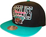 Vancouver Grizzlies Mitchell & Ness Black & Teal Adjustable Snap Back Snapback Baseball Cap Hat