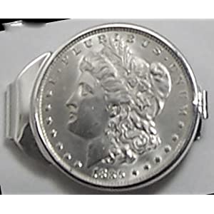 1885 Sterling Silver Morgan Dollar Coin Money Clip