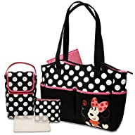 Disney 5 in 1 Diaper Tote Bag Set, Mi…