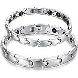 Starista Titanium Magnetic Therapy Negative Ion Germanium Link Bracelet, 21.5cm