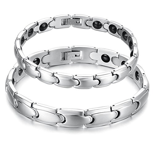 Starista Jewelry Titanium Magnetic Therapy Link Bracelet Germanium Power Balance Wristband for Women (Steel And Jelly Men compare prices)