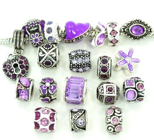 Ten (10) of Assorted Shades of Purple Crystal