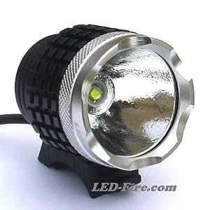 High Power LED Fahrradlampe / Outdoorlampe LED-Fire.com 1000 mit Li-Ion-Akku und Ladegerät von LED-Fire.com