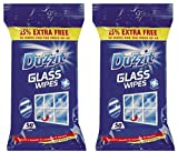 2 x Duzzit Glass Window Mirror Cleaning Wipes Pack Of 50