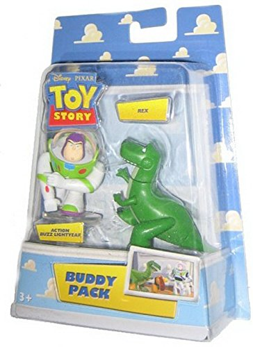 Disney / Pixar Toy Story Mini Figure Buddy Pack Action Buzz Lightyear and Rex - 1