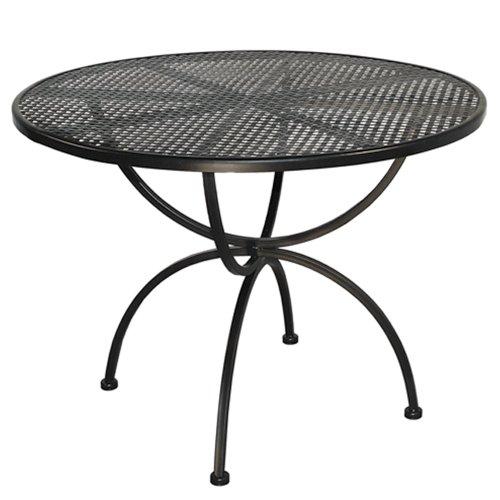 MBM-156137-Tisch-Romeo-Durchmesser-100-x-73-cm-Eisengestell-Plattenfarbe-marone-antik