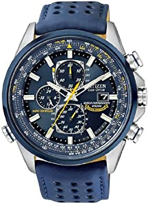 Mens Watch Citizen AT8020-03L Blue Angels World Chronograph Eco-Drive Radio Con