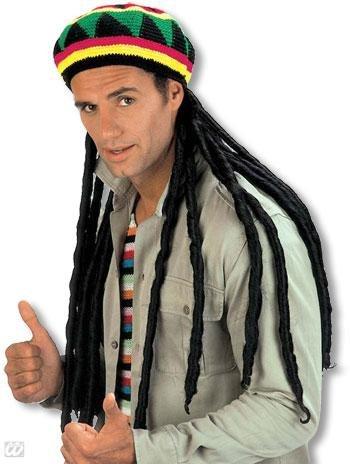 Jamaika Mütze mit Rasta Zöpfen