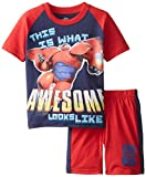 Disney Little Boys' Big Hero 6 Short Sleeve Tee and Jersey Short 2-Piece Set