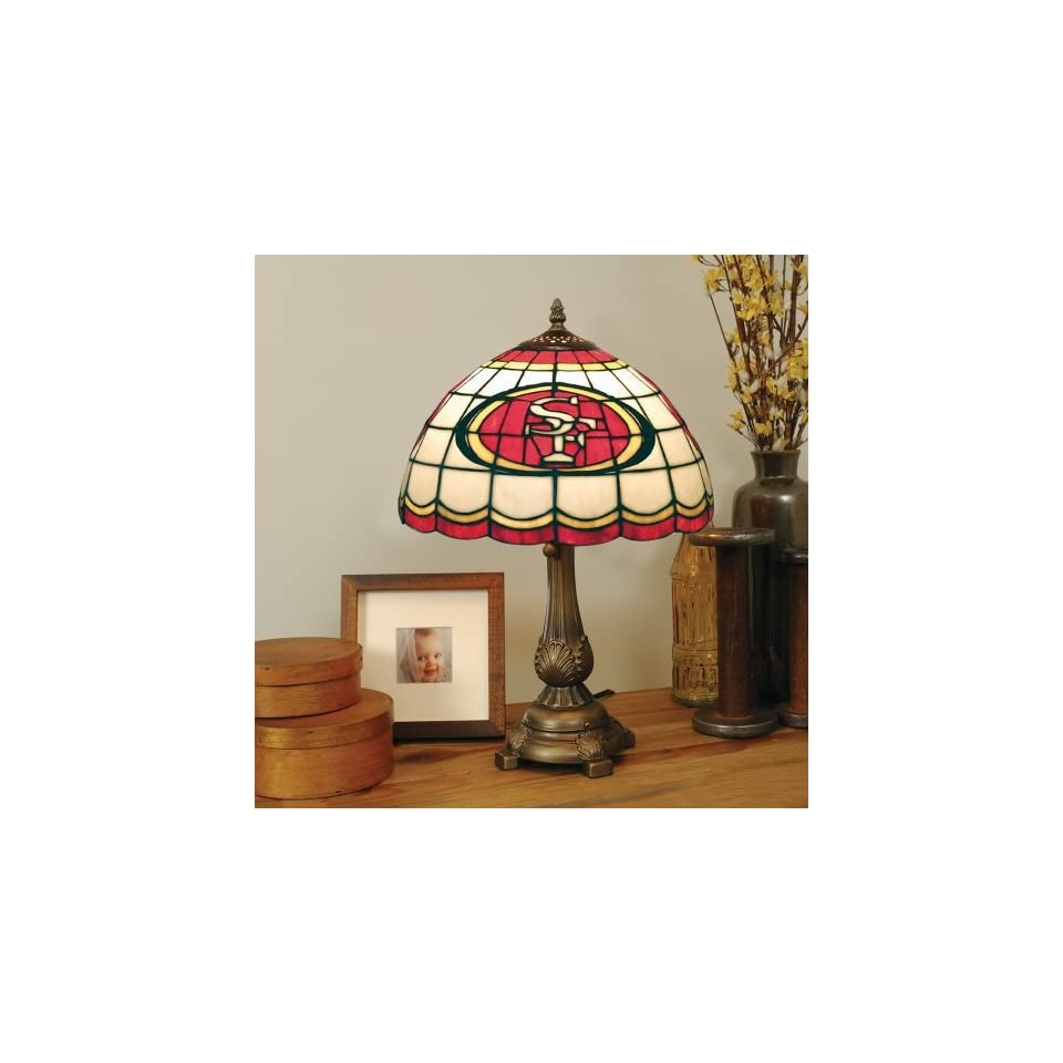 19 NFL San Francisco 49ers Football Logo Tiffany Style Table Lamp