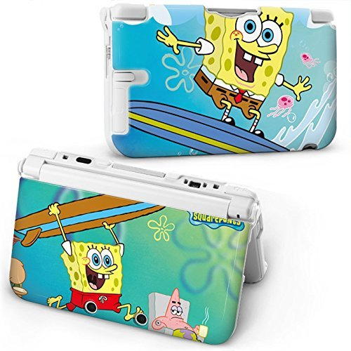 spongebob-squarepants-protective-hard-case-cover-for-old-style-nintendo-3ds-xl-consoleplease-read-de