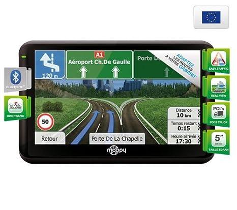Mappy ULTIX550 Truck Europe GPS Eléments Dédiés à la Navigation Embarquée Fixe, 16:9