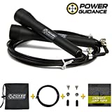 SKIPPING ROPE - BY POWER GUIDANCE - Ultra Fast Speed Cable - For WOD, Crsosfit & Boxing Training - Comes with A FREE Extra Cable - Lifetime Warranty!